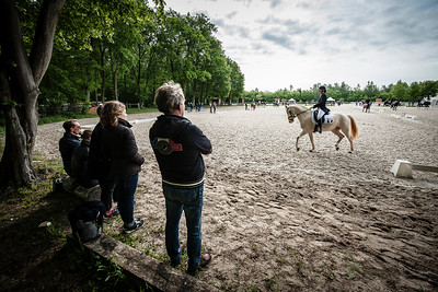 France, Compiègne :Manon Desjardin (France) riding Domenik during the Individual Pony Riders Dressage competition of the CDIY of Compiègne on May 21th , 2016, in Compiègne, France - Photo Christophe Bricot