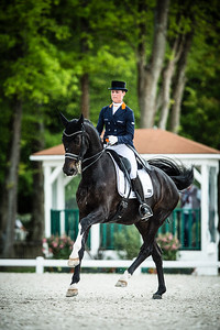 France, Compiègne :  Adelinde Cornelissen (Netherlands) riding Aqiedo during the Grand Prix Special CDI3*, Grand Prix Brézillon,  Dressage competition of the FEI CDIO5*, Compiègne on May 20th , 2016, in Compiègne, France - Photo Christophe Bricot