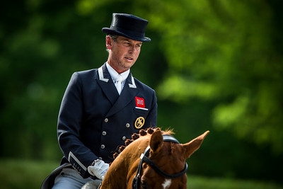 France, Compiègne :  Carl Hester (Great Britain) riding Wanadoo  during the Grand Prix Barriquand, CDI3*, Dressage competition of the FEI CDIO5* of Compiègne on May 19th , 2016, in Compiègne, France - Photo Christophe Bricot