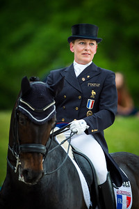 France, Compiègne :  Karen Tebar (France) riding Ricardo during the Grand Prix Special CDI3*, Grand Prix Brézillon,  Dressage competition of the FEI CDIO5*, Compiègne on May 20th , 2016, in Compiègne, France - Photo Christophe Bricot