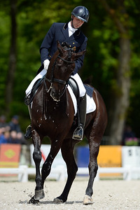France, Compiègne :  Tom Heylen (Belgium) riding Gucci 'h'  during the Grand Prix Barriquand, CDI3*, Dressage competition of the FEI CDIO5* of Compiègne on May 19th , 2016, in Compiègne, France - Photo Christophe Bricot
