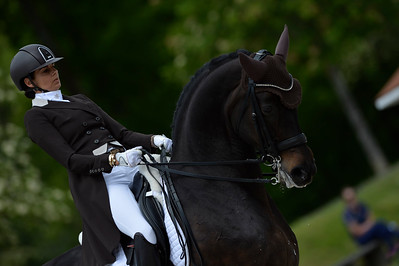 France, Compiègne :  Barbara Bertschinger (Switzerland) riding Rubin Cortes Old  during the Grand Prix Barriquand, CDI3*, Dressage competition of the FEI CDIO5* of Compiègne on May 19th , 2016, in Compiègne, France - Photo Christophe Bricot
