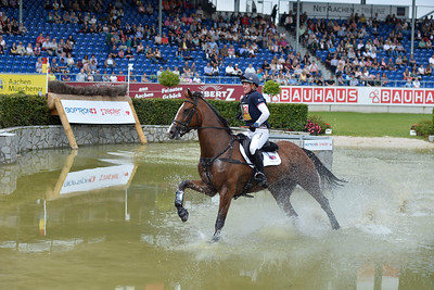 Germany, Aachen : Nicola WILSON riding One Two Many Signature during the CHIO of Aachen, World Equestrian Festival,  in July 16th , 2016, in Aachen, Germany - Photo Christophe Bricot
