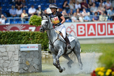 Germany, Aachen : Jonelle PRICE riding Faerie Dianimo during the CHIO of Aachen, World Equestrian Festival,  in July 16th , 2016, in Aachen, Germany - Photo Christophe Bricot