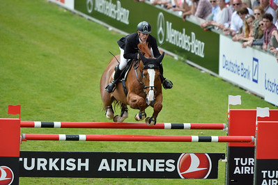Germany, Aachen : Marcus EHNING riding Pret A Tout  during the Rolex Grand Prix ,  CHIO of Aachen, World Equestrian Festival,  in July 17th , 2016, in Aachen, Germany - Photo Christophe Bricot