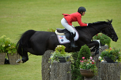 Germany, Aachen : Elizabeth (Beezie) MADDEN riding Cortes'C' during the Rolex Grand Prix ,  CHIO of Aachen, World Equestrian Festival,  in July 17th , 2016, in Aachen, Germany - Photo Christophe Bricot