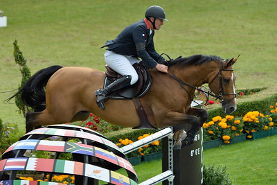 Germany, Aachen : Roger Yves BOST riding Qoud'Coeur de la Loge during the Rolex Grand Prix ,  CHIO of Aachen, World Equestrian Festival,  in July 17th , 2016, in Aachen, Germany - Photo Christophe Bricot