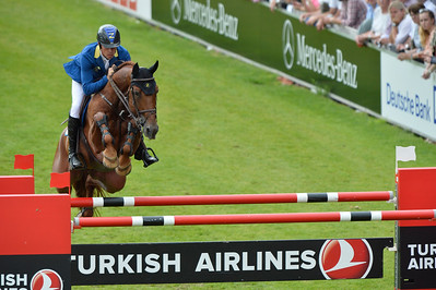 Germany, Aachen : José María LAROCCA riding Diablo Blanco during the Rolex Grand Prix ,  CHIO of Aachen, World Equestrian Festival,  in July 17th , 2016, in Aachen, Germany - Photo Christophe Bricot