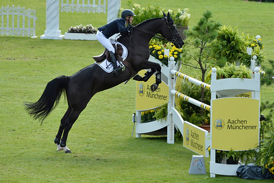 Germany, Aachen :  Meredith MICHAELS-BEERBAUM riding Apsara during the CHIO of Aachen, World Equestrian Festival,  in July 16th , 2016, in Aachen, Germany - Photo Christophe Bricot