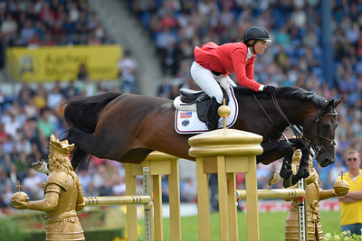 Germany, Aachen :  Elizabeth (Beezie) MADDEN riding Breitling Ls during the CHIO of Aachen, World Equestrian Festival,  in July 16th , 2016, in Aachen, Germany - Photo Christophe Bricot