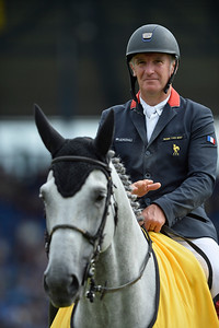 Germany, Aachen :  Roger Yves BOST riding Pegase du Murier during the CHIO of Aachen, World Equestrian Festival,  in July 16th , 2016, in Aachen, Germany - Photo Christophe Bricot