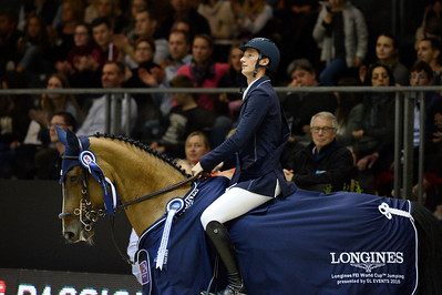France, Chassieu : Daniel DEUSSER riding Equita van't Zorgvliet , winner, during the Grand Prix Longines FEI world Cup™ presented by GL Events on October 30th , 2016, in Chassieu, France - Photo Christophe Bricot