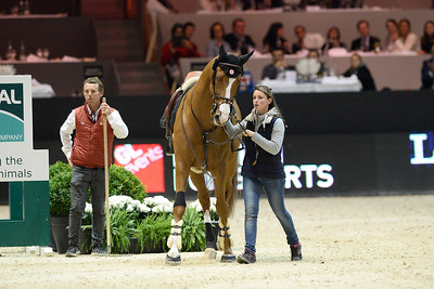 France, Chassieu : Simon DELESTRE riding Chesall Zimequest  during the Grand Prix Longines FEI world Cup™ presented by GL Events on October 30th , 2016, in Chassieu, France - Photo Christophe Bricot