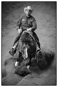 France, Chassieu :  Gennaro Lendi riding Spatatino during the reining International Competition of Equita Lyon, on October 29th , 2016, in Chassieu, France - Photo Christophe Bricot