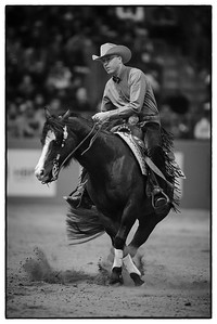 France, Chassieu :  Morey Fisk riding Chicks Smokingun during the reining International Competition of Equita Lyon, on October 29th , 2016, in Chassieu, France - Photo Christophe Bricot