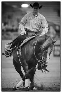 France, Chassieu :  Bernard FONCK riding What a Wave during the reining International Competition of Equita Lyon, on October 29th , 2016, in Chassieu, France - Photo Christophe Bricot