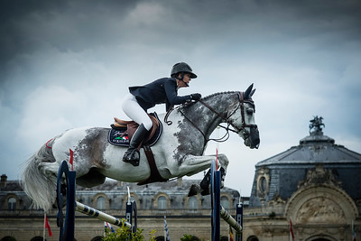 France, Chantilly : Lauren Hough riding Cornet during the Longines Global Champions Tour Grand Prix of Chantilly on May 28th , 2016, in Chantilly, France - Photo Christophe Bricot