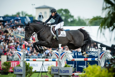 France, Chantilly : Meredith Michaels Beerbaum riding Aspara during the Longines Global Champions Tour Grand Prix of Chantilly on May 28th , 2016, in Chantilly, France - Photo Christophe Bricot