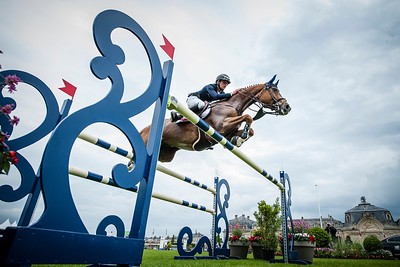 France, Chantilly : Bertram Allen riding Quiet Easy during the Longines Global Champions Tour Grand Prix of Chantilly on May 28th , 2016, in Chantilly, France - Photo Christophe Bricot