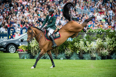 France, Chantilly : Abdelkebir Ouaddar riding Quickly de Kreisker during the Longines Global Champions Tour Grand Prix of Chantilly on May 28th , 2016, in Chantilly, France - Photo Christophe Bricot