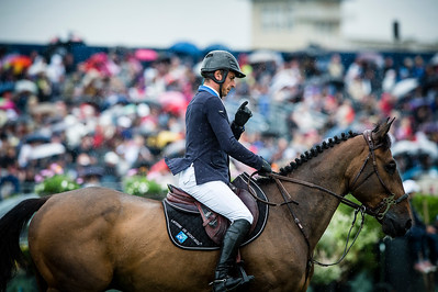 France, Chantilly : Julien Epaillard riding Quatrin de la Roque Lm during the Longines Global Champions Tour Grand Prix of Chantilly on May 28th , 2016, in Chantilly, France - Photo Christophe Bricot