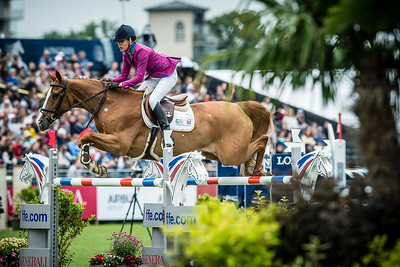 France, Chantilly : Luciana Diniz riding Fit for Fun during the Longines Global Champions Tour Grand Prix of Chantilly on May 28th , 2016, in Chantilly, France - Photo Christophe Bricot