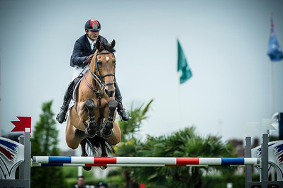 France, Chantilly : Omer Karaevli riding Roso au Crosnier during the Longines Global Champions Tour Grand Prix of Chantilly on May 28th , 2016, in Chantilly, France - Photo Christophe Bricot