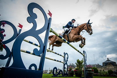 France, Chantilly : Daniel Deusser riding First Class van Eeckelghem during the Longines Global Champions Tour Grand Prix of Chantilly on May 28th , 2016, in Chantilly, France - Photo Christophe Bricot