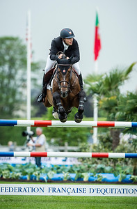 France, Chantilly : Daniel Bluman riding Conconcreto Apardir during the Longines Global Champions Tour Grand Prix of Chantilly on May 28th , 2016, in Chantilly, France - Photo Christophe Bricot