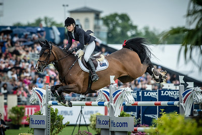 France, Chantilly : Edwina Tops-Alexander riding Caretina de Joter during the Longines Global Champions Tour Grand Prix of Chantilly on May 28th , 2016, in Chantilly, France - Photo Christophe Bricot