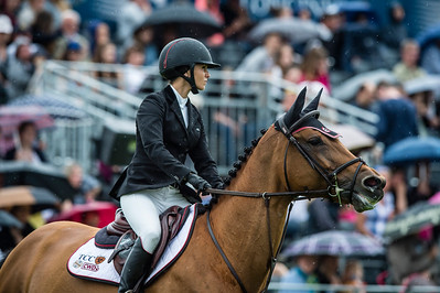 France, Chantilly : Georgina Bloomberg riding Lilli during the Longines Global Champions Tour Grand Prix of Chantilly on May 28th , 2016, in Chantilly, France - Photo Christophe Bricot