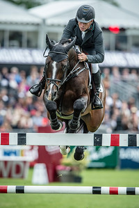 France, Chantilly : Rolf Goran Bengtsson riding Casll Ask during the Longines Global Champions Tour Grand Prix of Chantilly on May 28th , 2016, in Chantilly, France - Photo Christophe Bricot