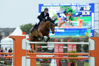 France, Chantilly : Pieter Devos riding Espoir during the Longines Global Champions Tour Grand Prix of Chantilly on May 28th , 2016, in Chantilly, France - Photo Christophe Bricot