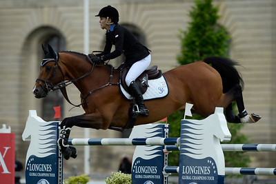 France, Chantilly : Samantha McIntosh riding Check In during the Longines Global Champions Tour Grand Prix of Chantilly on May 28th , 2016, in Chantilly, France - Photo Christophe Bricot