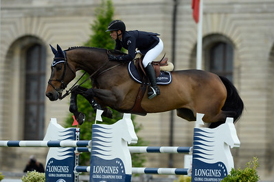 France, Chantilly : Jane Richard Philips riding Dieudonne de Guldenboom during the Longines Global Champions Tour Grand Prix of Chantilly on May 28th , 2016, in Chantilly, France - Photo Christophe Bricot