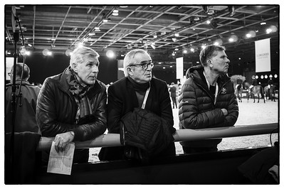 France, Villepinte : Ambiance; Thierry Pomel, Philippe Guerdat and Edouard Couperie  during the Longines Masters Paris, on  December 2th , 2016, in Villepinte, France - Photo Christophe Bricot