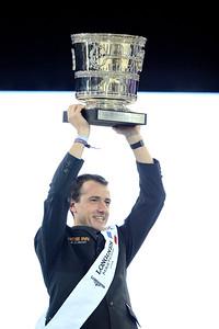France, Villepinte : Gregory Wathelet win with Eldorado van het Vijverhof  during the Grand Prix of the Longines Masters Paris, on December 4rd , 2016, in Villepinte, France - Photo Christophe Bricot
