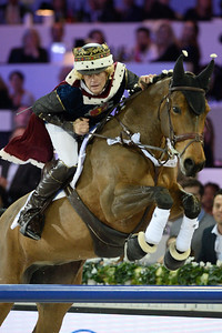 France, Villepinte : Jérôme Guery riding Landjee des Aucels  during the Pro-Am for Charity Presented by Hyatt, at the Longines Masters Paris, on December 4rd , 2016, in Villepinte, France - Photo Christophe Bricot
