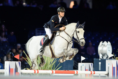 France, Villepinte : Max Kühner riding Chardonnay 79 during the Longines Masters Paris, on December 3rd , 2016, in Villepinte, France - Photo Christophe Bricot