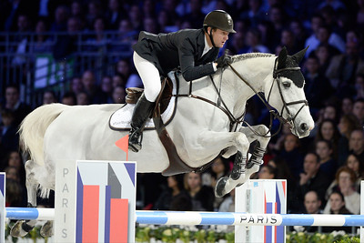 France, Villepinte : McLain Ward riding Malou during the Longines Masters Paris, on December 3rd , 2016, in Villepinte, France - Photo Christophe Bricot
