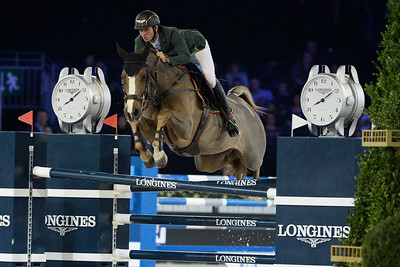 France, Villepinte : Steve Guerdat riding Albfuehren's Happiness   during the Longines Masters Paris, on December 3rd , 2016, in Villepinte, France - Photo Christophe Bricot