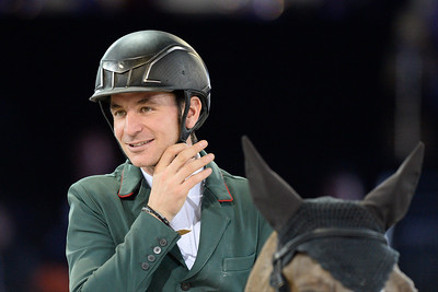 France, Villepinte : Steve Guerdat   during the Longines Masters Paris, on December 3rd , 2016, in Villepinte, France - Photo Christophe Bricot