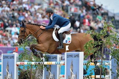 EQUITATION - 334 GUILLON Olivier sur LORD DE THEIZE - JUMPING - JEUX OLYMPIQUES DE LONDRES 2012 - OLYMPICS GAMES IN LONDON -  PHOTO : © CHRISTOPHE BRICOT