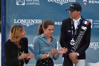 France, Paris : Virginie Couperie Eiffel, Charlotte Casiraghi, Simon Delestre during the Longines Paris Eiffel Jumping, Global Champions Tour in July 2th , 2016, in Paris, France - Photo Christophe Bricot