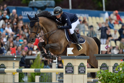 France, Paris : Katharina Offel riding Cassius 56 during the Longines Paris Eiffel Jumping, Global Champions Tour in July 2th , 2016, in Paris, France - Photo Christophe Bricot