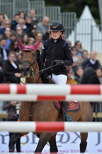 France, Paris : Adeline Hecart riding Question d'Orval during the Longines Paris Eiffel Jumping, Global Champions Tour in July 2th , 2016, in Paris, France - Photo Christophe Bricot