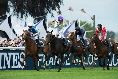 Cristian Demuro riding La Cressonnière winner of the167th Prix de Diane Longines at Chantilly, June 19th 2016, Chantilly, France - Photo Christophe Bricot