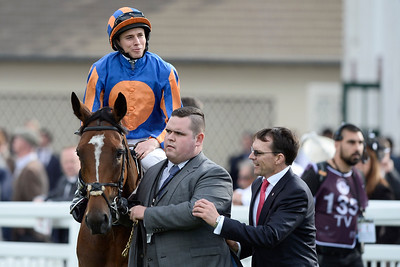 {country}, {city} : the winner, Ryan-Lee Moore riding Found (IRE) during the 95th Qatar Prix de l'Arc de Triomphe on  October 2nd , 2016, in {city}, {country} - Photo Christophe Bricot / Dppi