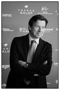 Gilles Pélisson, président de TF1, pendant le 95e Prix Qatar Arc de Triomphe, le 2 Octobre 2016, à Chantilly, France - Photo Christophe Bricot / Bestimage