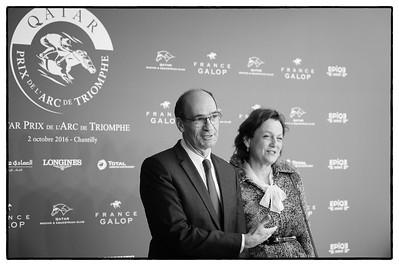 Éric Woerth, (Ministre du Budget puis du Travail des deux premiers gouvernements François Fillon, il est actuellement maire de Chantilly et député de la quatrième circonscription de l'Oise). pendant le 95e Prix Qatar Arc de Triomphe, le 2 Octobre 2016, à Chantilly, France - Photo Christophe Bricot / Bestimage